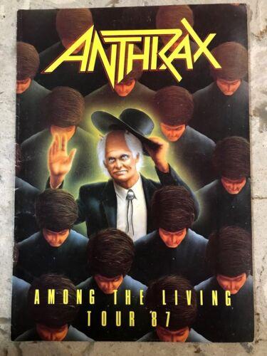 ANTHRAX - Among The Living Tour 1987 Program, Near MINT!