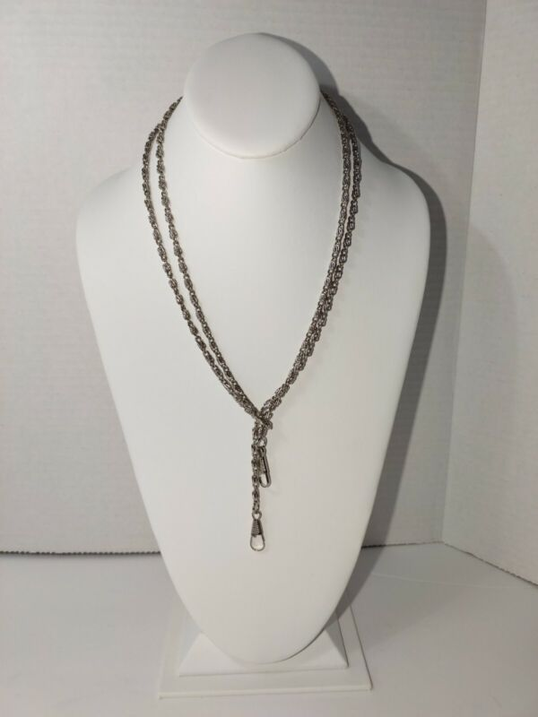 Vintage Silver tone Paper Clip Eye Glass Holder Lanyard – 46 inches