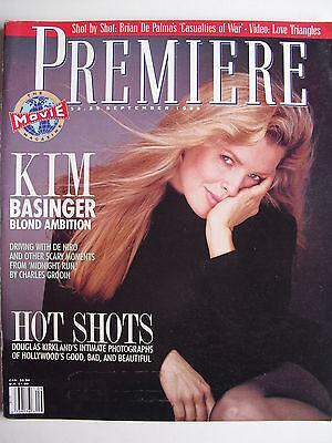 Kim Basinger  September 1989 Premiere Magazine Charles Grodin  Sean Penn