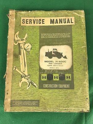 Vintage 1974 Ih-400c Pay Loader Service Manual  Sm-h-400c-1
