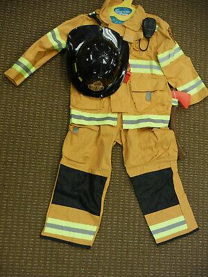TeeTot & Co Fireman Halloween Costume FireFighter Kids Size 5/6 with Accessories