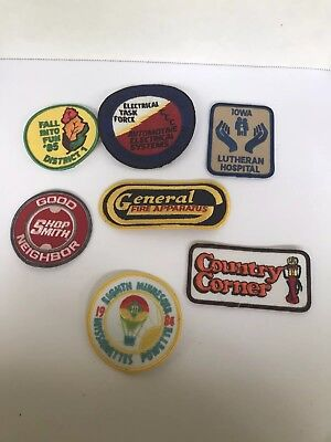 Vintage Lot of  7 big Patches Hospital Store task force sewing craft crafting