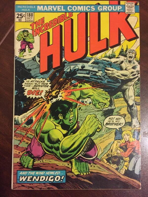 The Incredible Hulk #180 (Oct 1974, Marvel) Mark Jewelers Insert first Wolverine