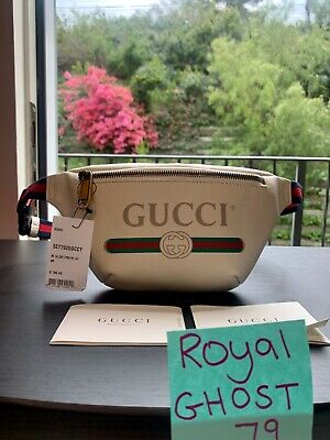 GUCCI WHITE SMALL LOGO BELT BAG. UNISEX. BRAND NEW! AUTHENTIC! FREE SHIPPING!