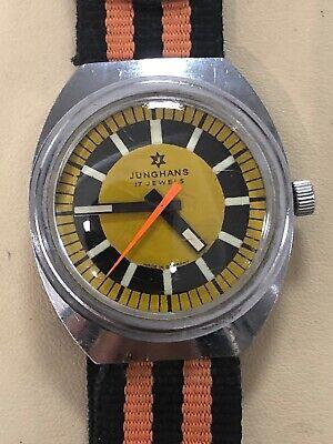 Rare Vintage Junghans Mechanical Wind Watch 17 Jewels