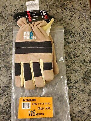 Pro-tech 8 Titan Structural Firefighting Short Cuff Gloves Size Xxl Tan New