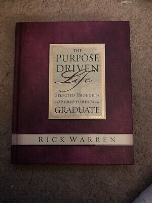 The Purpose Driven Life selected thoughts and scriptures for The - Graduation Scriptures