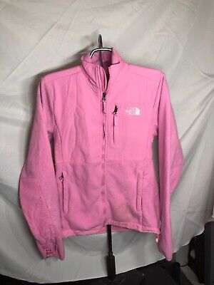 The North Face Women's Denali Fleece Pink Small Zipper Flaw Sold As Is Free Ship
