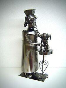VINO-PORTABOTTIGLIE-VETERINARIO-39-cm-Decorazione-BOTTIGLIE-VINO-376-METALLO