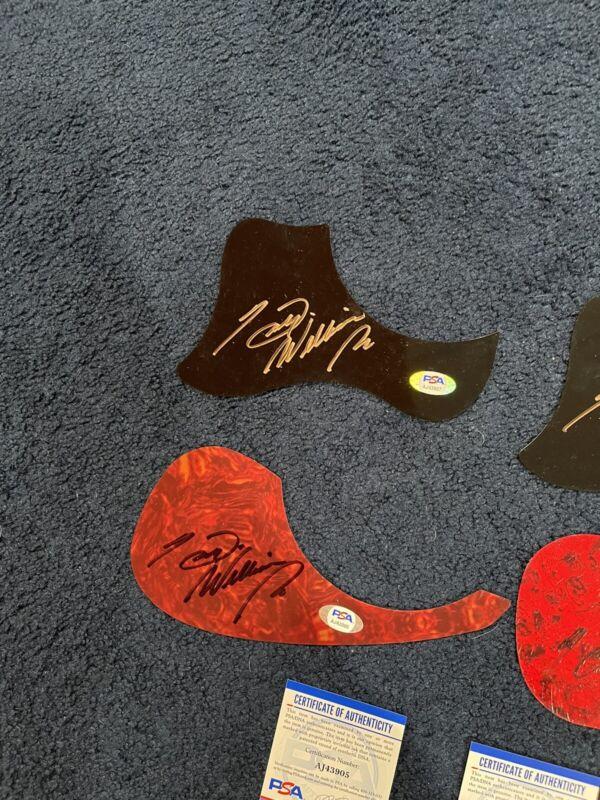 Lot of 4 Hank Williams Jr Signed Acoustic Pick Guards PSA DNA