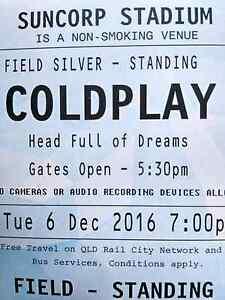 Coldplay Silver GA Brisbane Suncorp Stadium Brisbane City Brisbane North West Preview