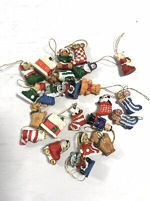 Holiday Mini Christmas Ornament Set of 25 Tree Decorations Display Home Decor