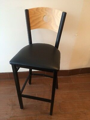Wholesale Price Commercial Restaurant Metal-wood Bar-stool Free Shipping