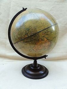 A 1920s 12 inch Terrestrial Globe by Philps