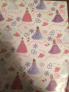 4 packs of 3 Barbie Wrapping Paper Kitchener / Waterloo Kitchener Area image 3