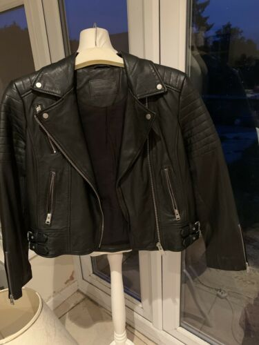 Allsaints Leather Jacket Size 14 NWOT