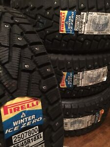 225/45/18 Pirelli Factory Studded Winter Tires New