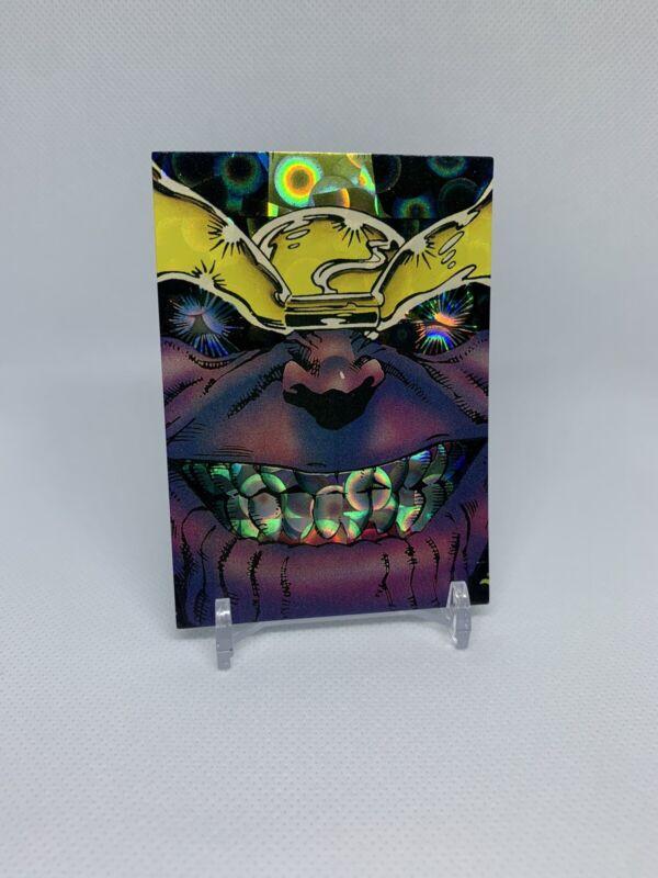 1992 Marvel Silver Surfer   Thanos   refractor   NM-MT   PSA ready