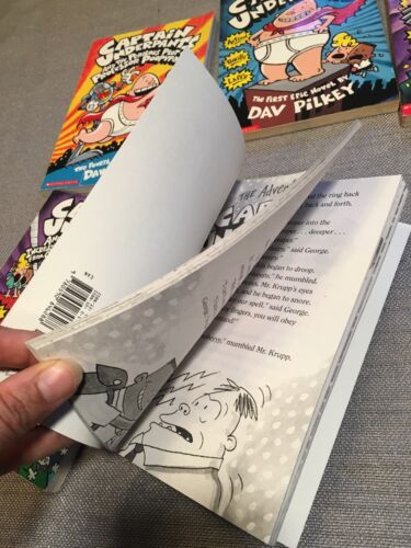 Lot of 6 CAPTAIN UNDERPANTS Books ~ DAV PILKEY ~ Poopypants Booger Cafeteria