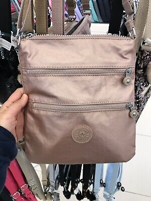 Kipling Keiko Crossbody Mini Bag Rose Gold Metallic
