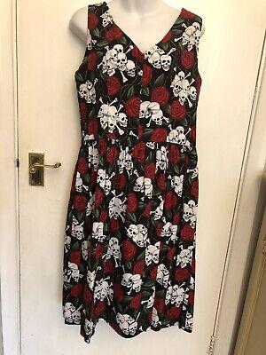 Rockabilly Steampunk Goth 1950s Dress L 14