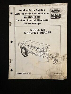 New Holland Service Parts Catalog 125 Manure Spreader 1215