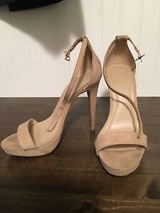 Lola Shoetique nude Suede strapping sandals