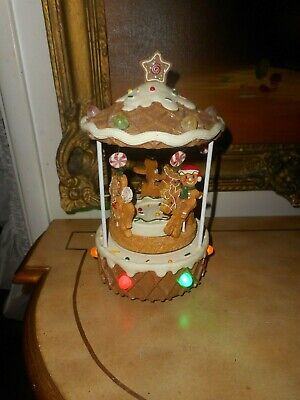 YANKEE CANDLE, GUMDROP WAFFLE CONE CAROUSEL, MUSIC BOX, WARMER BURNER, LIGHTS UP