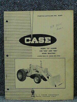 Oem Factory Case 22 Front End Loader For 430 440 Tractors Parts Catalog Manual