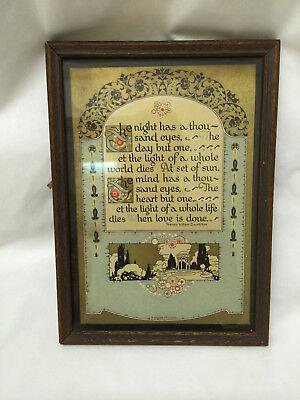 (Vintage Gibson Framed Poem Picture)