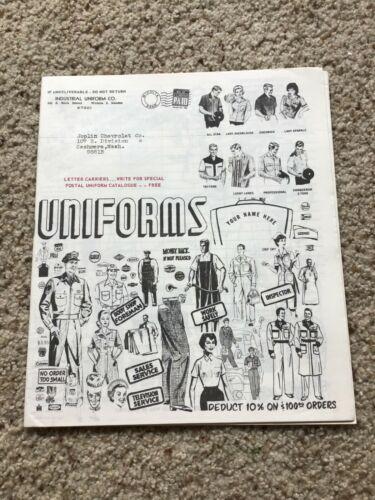1960s Chevrolet dealerships Uniforms catalogue.