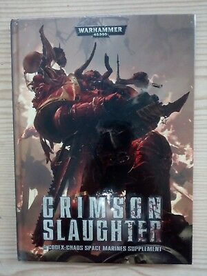 Warhammer 40000 - Crimson Slaughter - A Codex Chaos Space Marines Supplement - I segunda mano  Cádiz