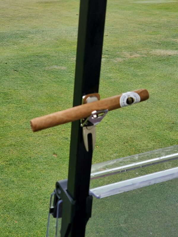 Magnetic Cigar Holder, Golf Divot Repair Tool & Ball Marker