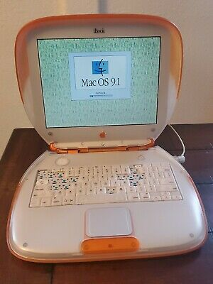 Apple iBook Clamshell G3, TANGERINE. 300MHz/32MB/IBM 3GB HD. WORKING