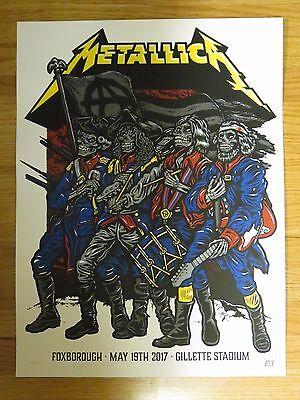 Patriots METALLICA Foxboro 5/19/17 Concert LTD Poster JAMES LARS KIRK ROBERT