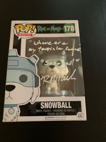 ROB PAULSEN SIGNED RICK AND MORTY POP FUNKO EXACT PROOF COA AUTOGRAPHED SNOWBALL