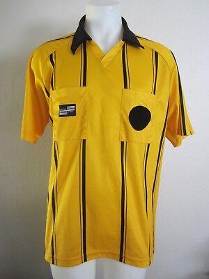 7ad4b1c21 Official Sports Yellow Soccer Referee Jersey Uniform L EUC