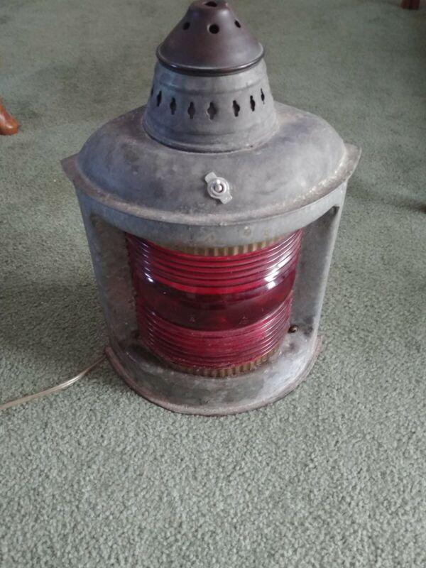 Vintage Ships Portside Electric Lantern
