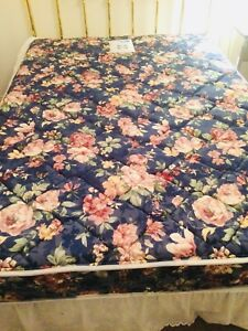 Full size bed frame, mattress with matching spring box!