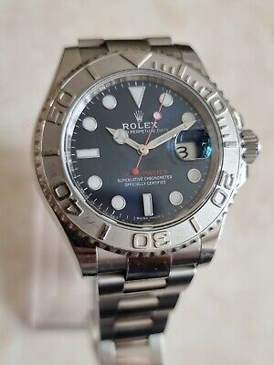 Rolex Yacht-Master Stainless Steel Blue Dial Date 40mm Watch