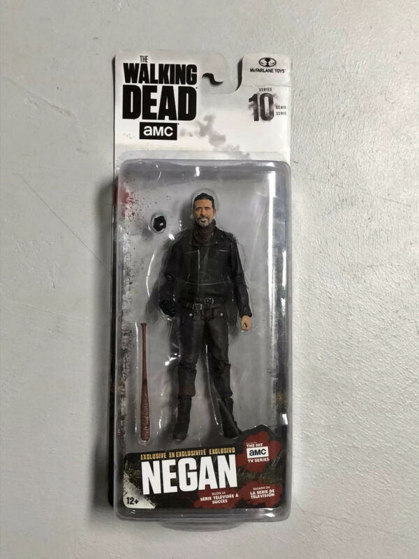 Negan The Walking Dead Action Figure Series 10 McFarlane Very Good Condition MIP