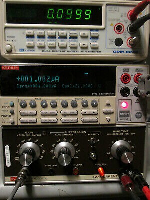 Current Amplifier I To V Pa To Ma 10e4 To 10e11 Gain Calibrated Keithley 427
