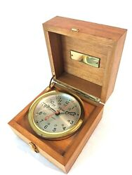 Chelsea Brass Boardroom Clock In Presentation Case with Plate for Engraving