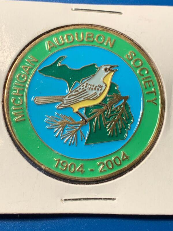 MICHIGAN AUDUBON SOCIETY WOOD WARBLER? 1904-2004 100 Years BRONZE MEDAL