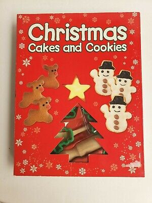 Christmas Cakes & Cookies Cutters Baking Recipes, Book Icing Set Wooden Spoon