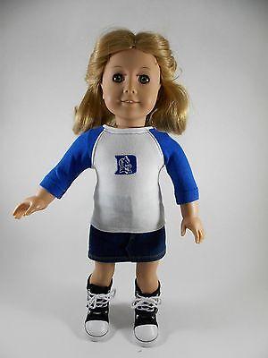 Duke University Blue Devils T-shirt for American Girl & other 18-inch Dolls #3 Duke Blue Devils Girl