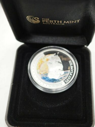 2012 $1 SHIPS THAT CHANGED THE WORLD MAYFLOWER 1OZ SILVER PROOF COIN