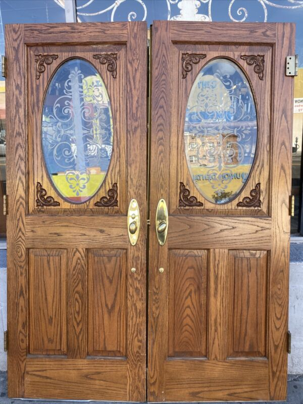 Double Entry Doors With Acid Etched Glass  79.5 X 60