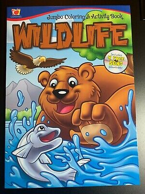 ANIMAL WILDLIFE JUMBO COLORING & ACTIVITY BOOK NEW KIDS! INCLUDES MATCHING - Kids Coloring Games