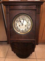 German Antique Art Nouveau/Arts Crafts/ Sessionist Wall Clock Repair/Parts